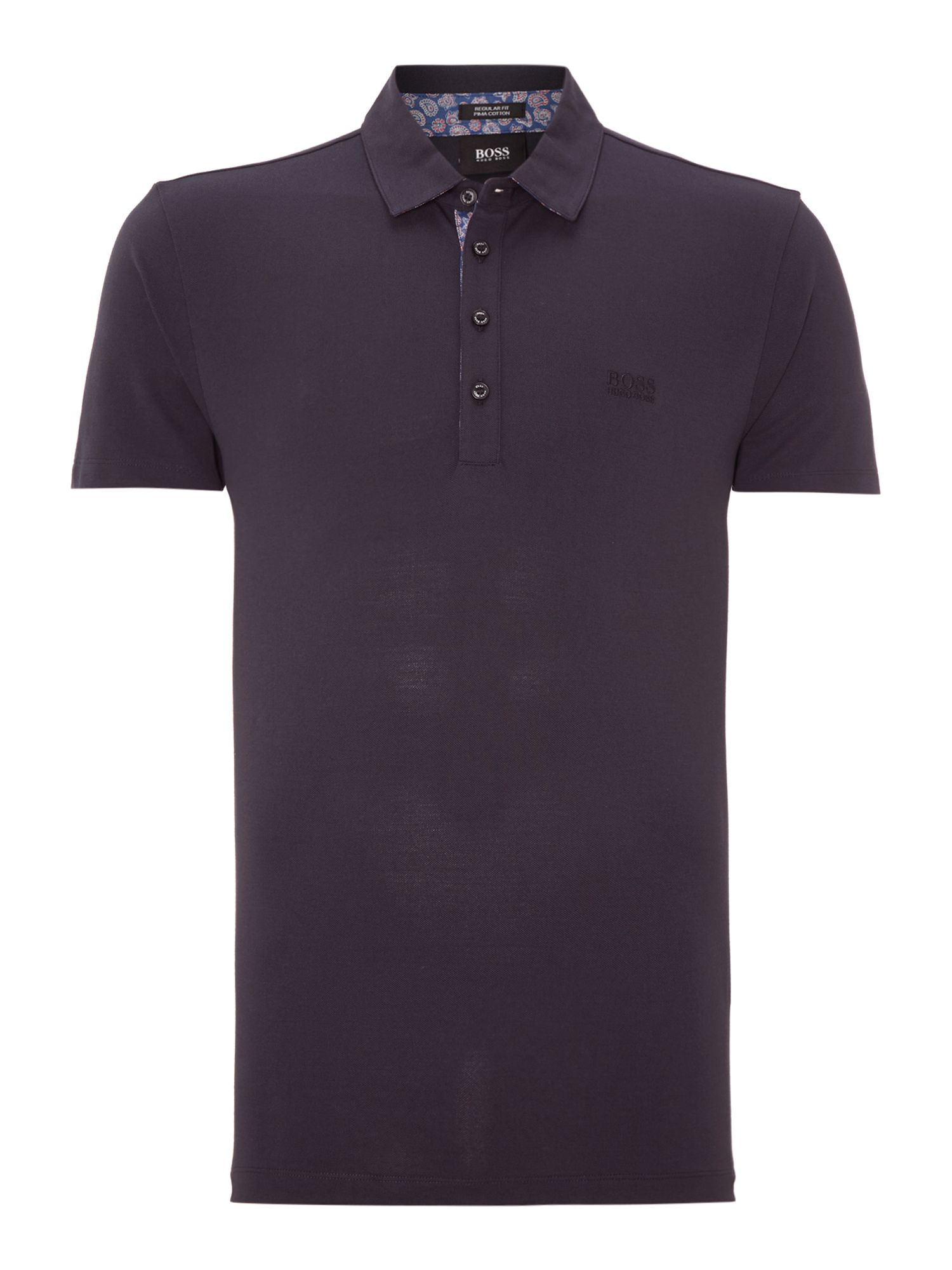 Paisley collar polo shirt