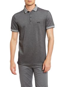 Contrast collar pique polo shirt