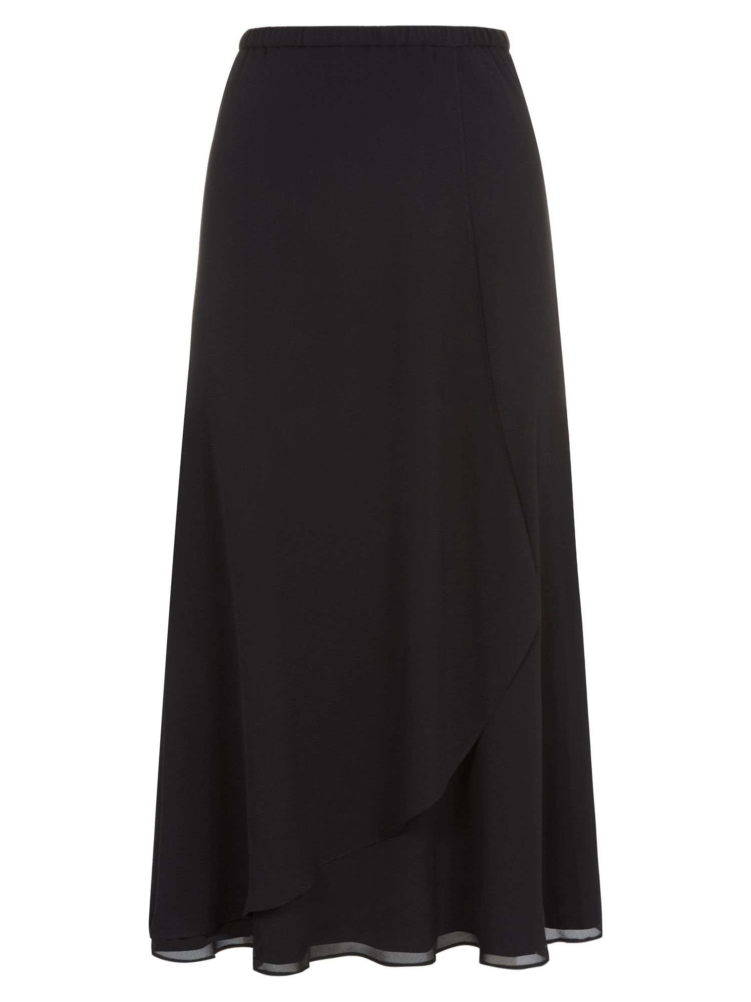 Waterfall front chiffon skirt