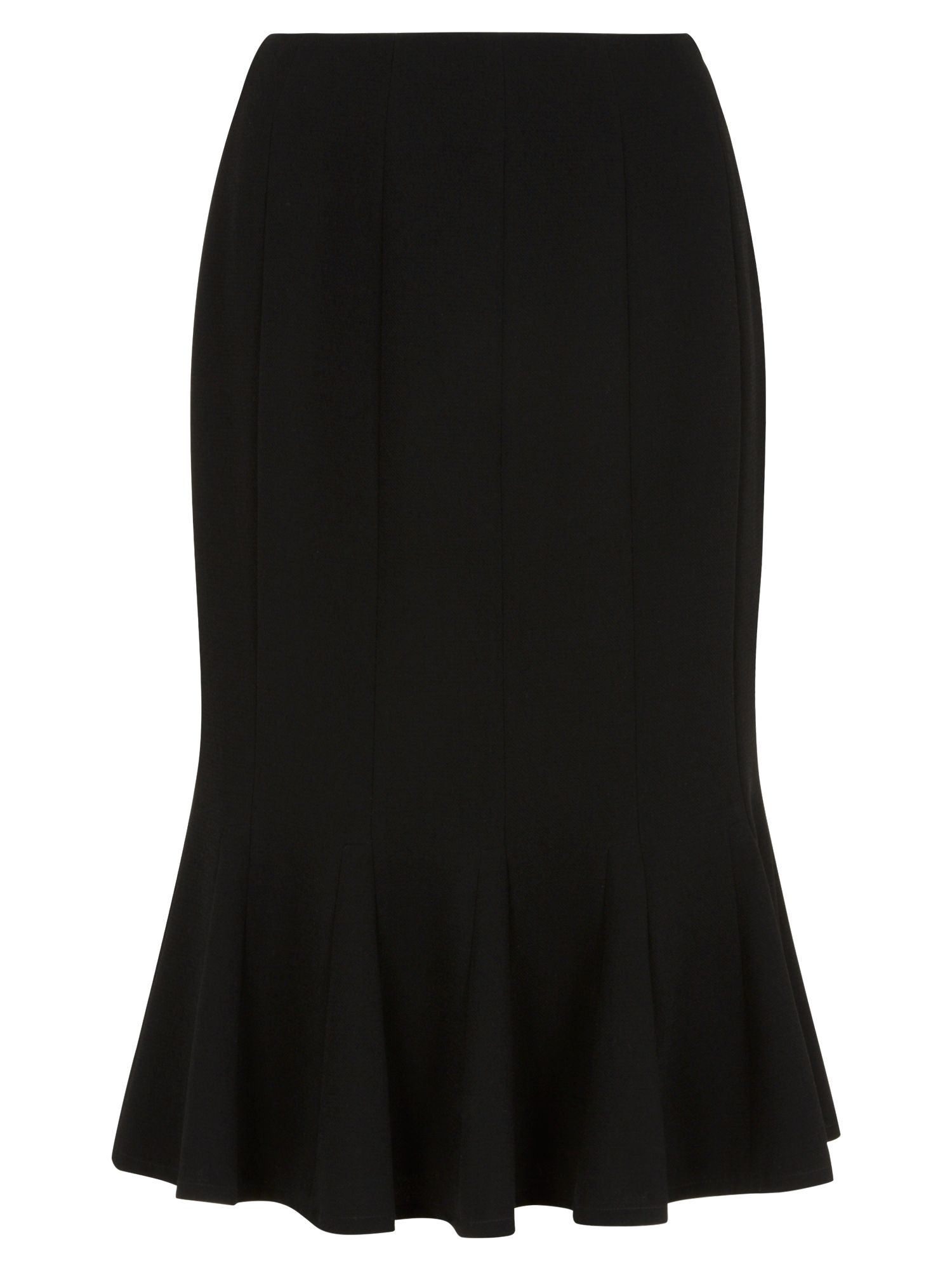 Black fit & flare skirt