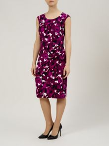 Blurred ikat print dress