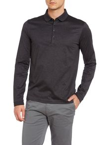 Single tipped collar long sleeve polo shirt