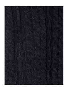 Graduated cable knit wrap