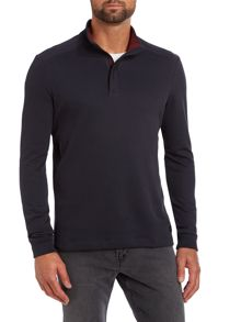 Concealed zip funnel neck jumper
