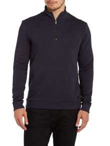 Shoulder detail 3/4 zip up sweatshirt