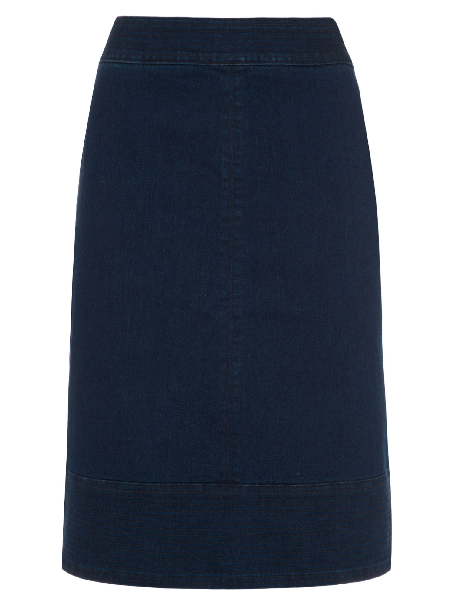 Stitch hem denim skirt