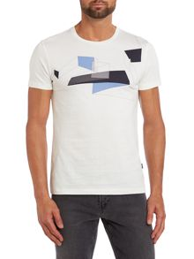 Graphic geometric print t shirt