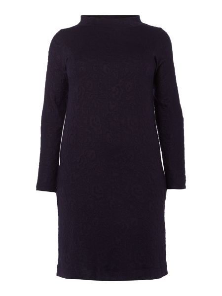 Persona Plus Size Oppla jacquard cowl neck dress