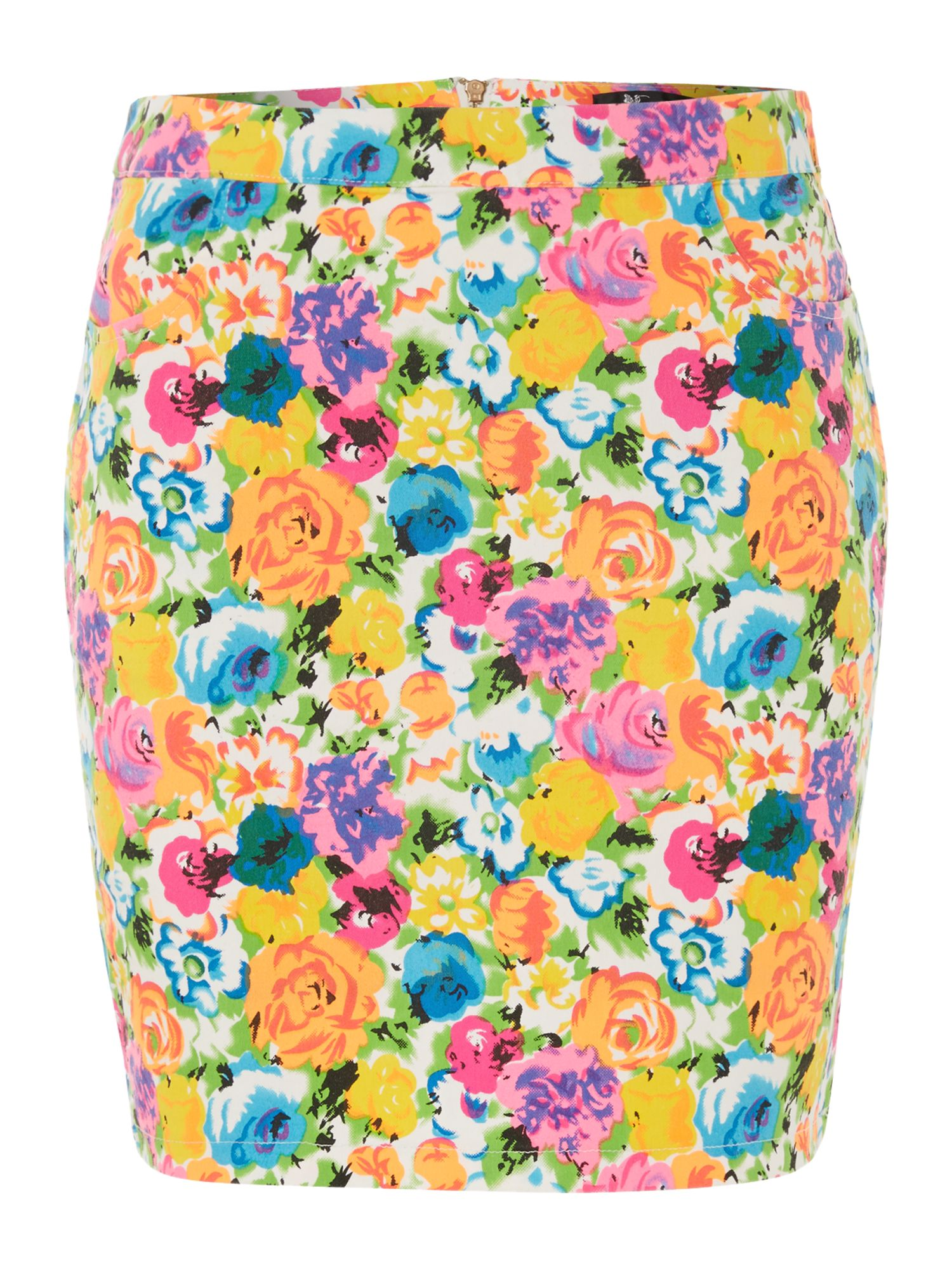 Graphic flower print skirt
