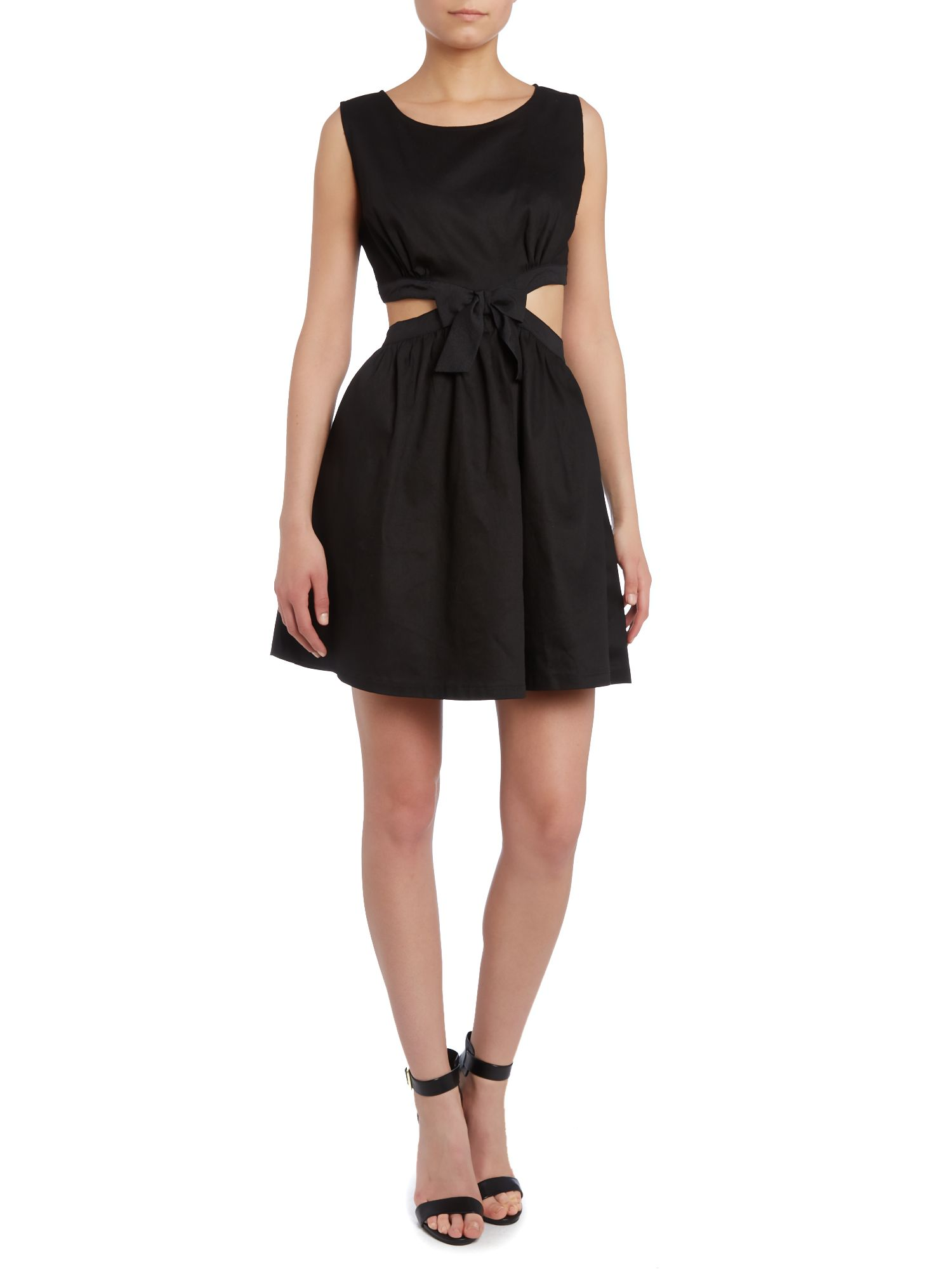 Cut out dress with bow
