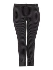 Persona Plus Size Renato pinstripe stretch trouser