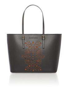 Absolut black cut out tote bag