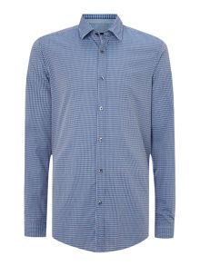 Check chambray shirt