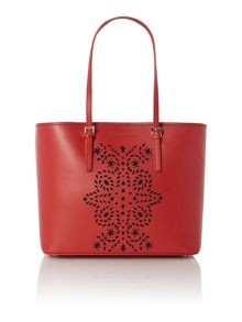 Absolut red cut out tote bag