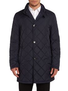 Button through reversible quilted packable coat