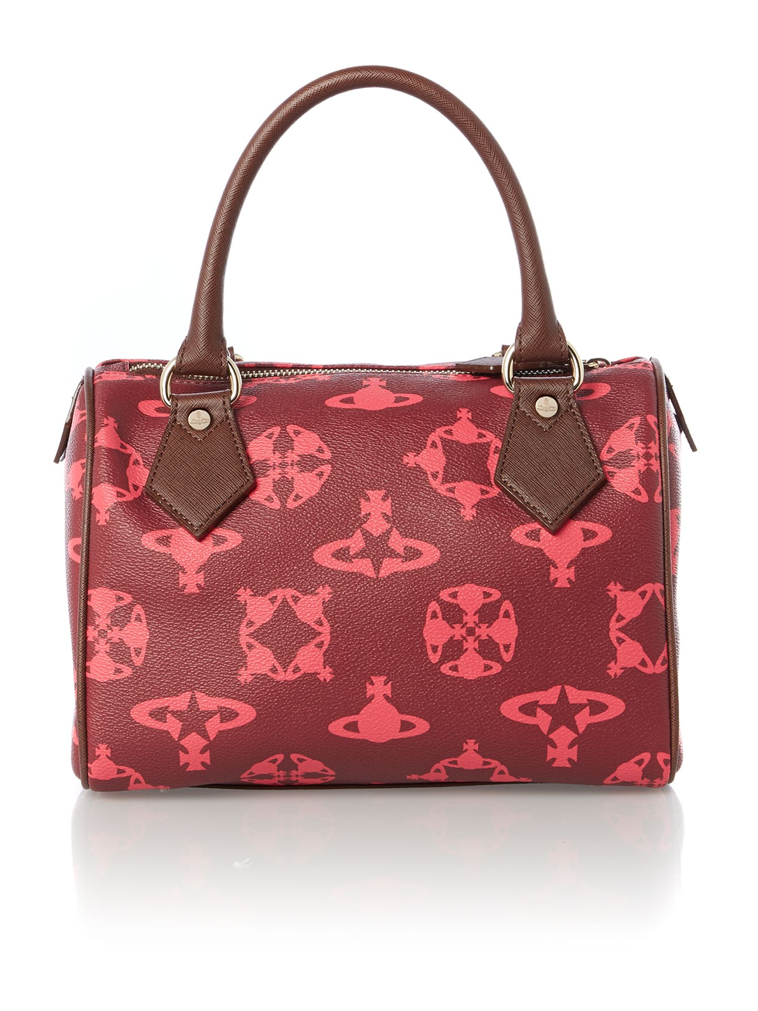 Logomania red bowling bag