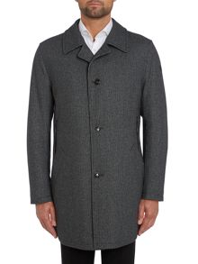 Premium button through puppytooth coat