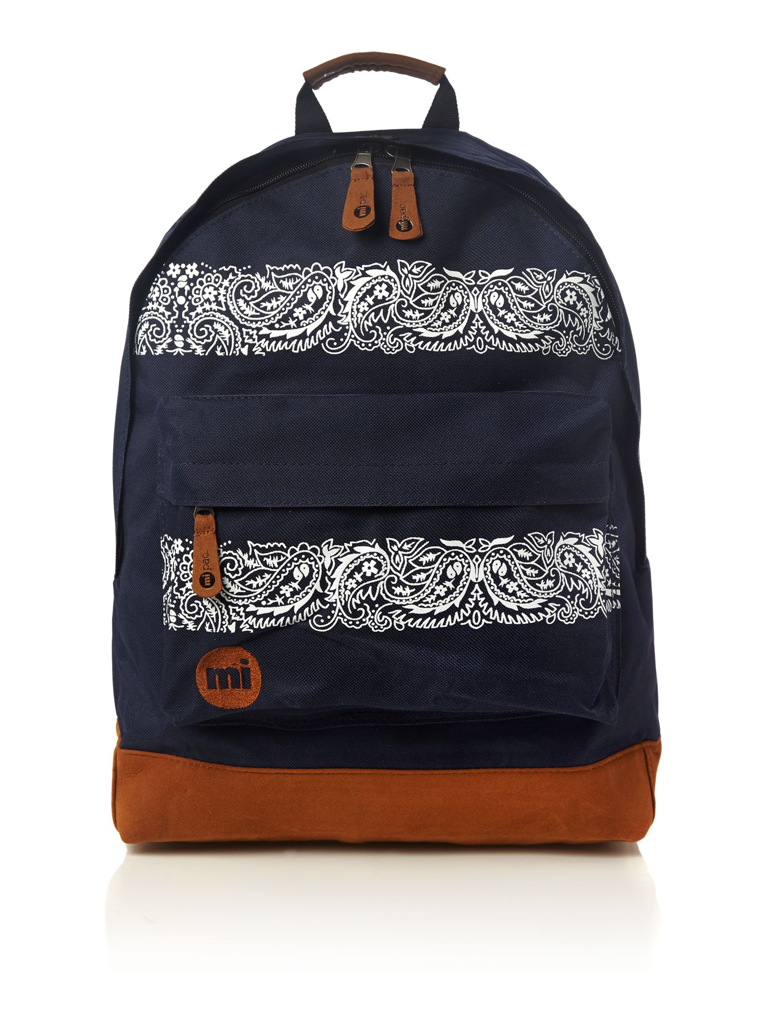 Paisley print backpack