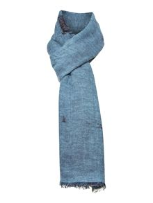 Wool cotton and viscose scarf
