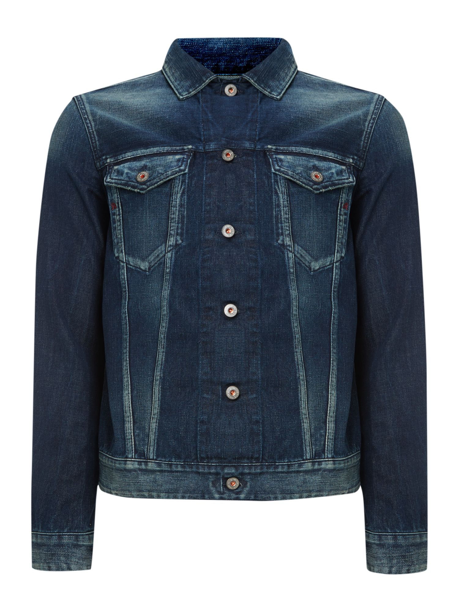 Classic and casual denim short jacket