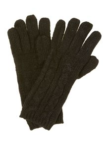 Tonal Cable Knit Glove