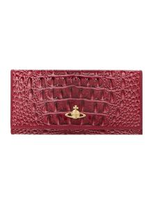 Chancery pink snake large flapover purse