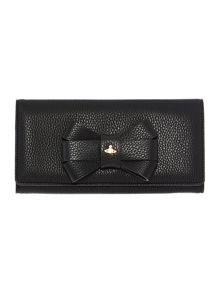 Bow black large flap over purse