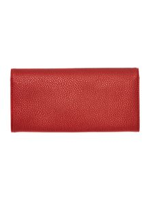 Bow red large flap over purse