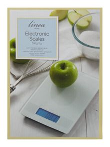 Linea Digital kitchen scales, white