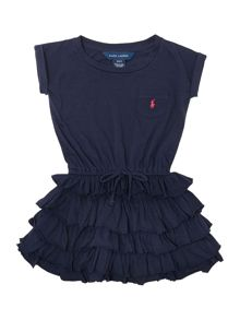 Girls jersey t-shirt dress with ruffle skirt