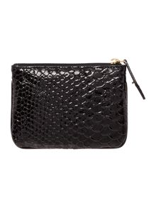 Frilly Snake black small pouch