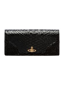 Frilly Snake black large flap over purse