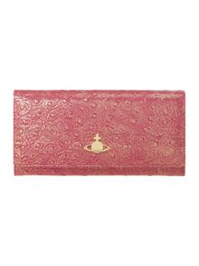 Cote D`Azure pink metallic flap over purse