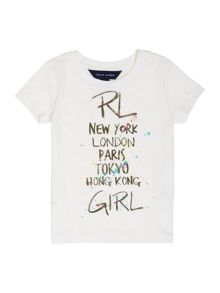 Girls city print t-shirt
