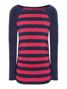 Girls striped ruched t-shirt