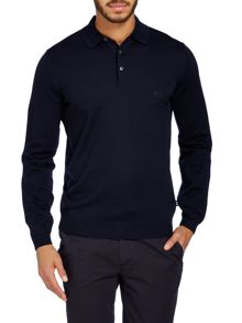 Knitted merino polo shirt