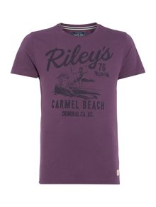 riley`s beach graphic t-shirt