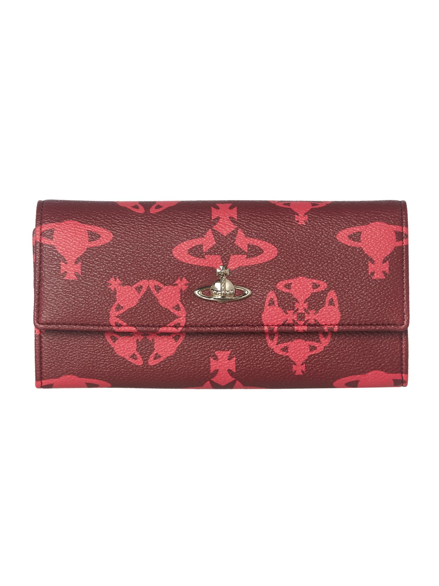 Logomania multi coloured large flap over purse