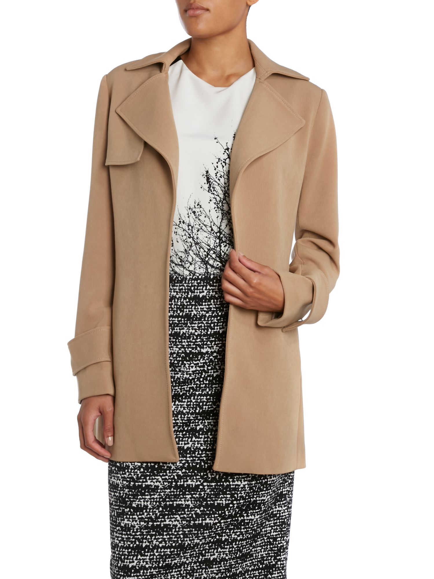 Button Knee Length Coat