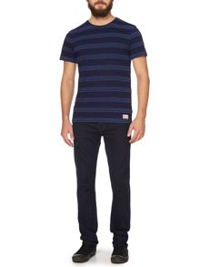 hutton textured stripe t-shirt