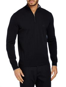 Lambswool 3/4 zip up jumper
