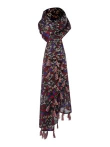 Butterfly jacquard scarf