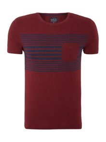 ganton panel stripe t-shirt