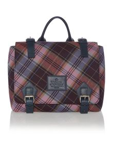 Tartan multifunctional messenger bag