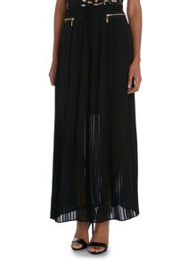 Biker Pleated Maxi Skirt