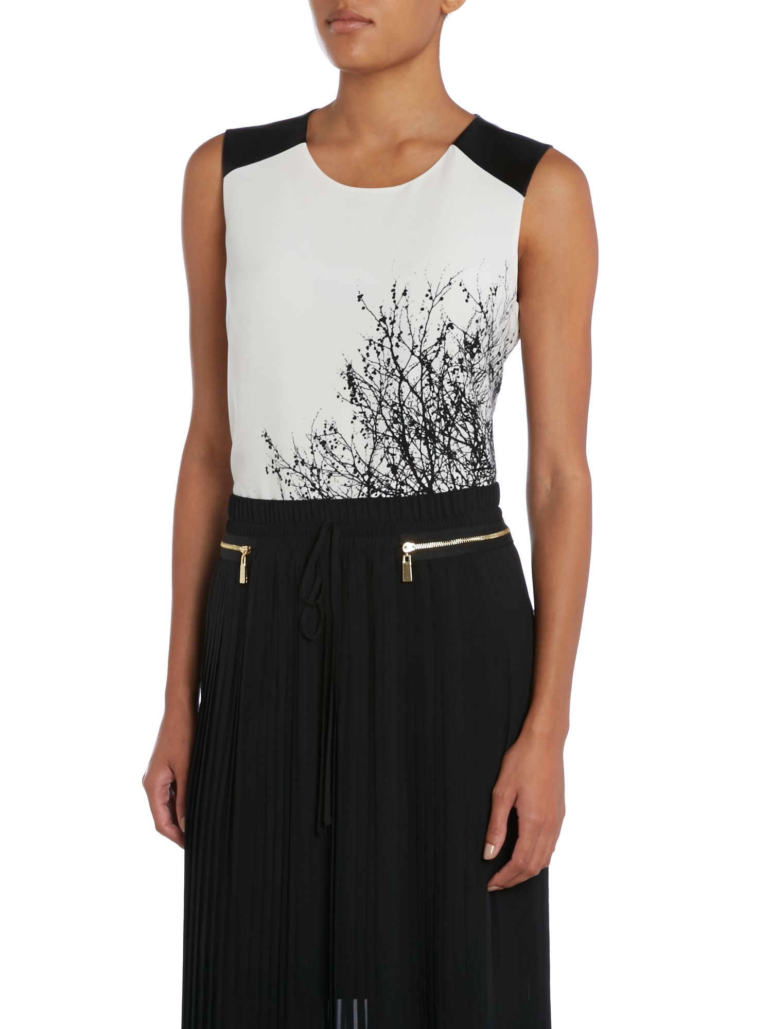 SL PU Shoulder Tree Design Top