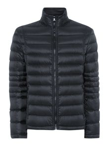 Quilted down filled jacket