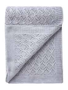 Diamond brocade knit throw