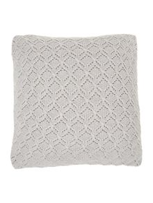 Diamond brocade knit cushion