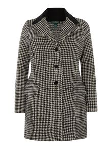 Houndstooth boucle coat